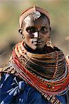 Portrait or Rendille Tribeswoman Kenya, Africa