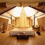 Interior of Hotel Room at Lake Manyara Tree Lodge, United Republic of Tanzania, Africa