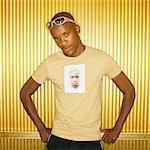 Man With Self Portrait sur T-Shirt