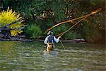 Man Fly-fishing, Rio Palena, Patagonia, Chile
