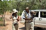 Couple sur Safari, Gauteng, Afrique du Sud