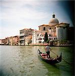 Gondola on Grand Canal, Venice, Italy