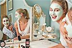 Frauen in Gesichtsmasken