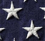 Gros plan des étoiles sur le drapeau des États-Unis