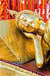 Gold Leaf reclining Buddha at Wat Doi Suthep Temple, Chiang Mai, Thailand, Southeast Asia, Asia