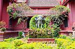 Elephant statue outside The National Museum of Cambodia, Phnom Penh, Cambodia, Indochina, Southeast Asia, Asia