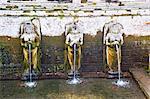 Fountains at Pura Goa Gaja, Elephant Cave Temple, Bali, Indonesia, Southeast Asia, Asia
