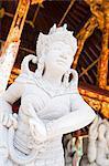 Stone statue, Pura Tirta Empul Hindu Temple, Tampaksiring,  Bali, Indonesia, Southeast Asia, Asia