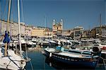 Der alte Hafen in Bastia im Norden, Korsika, Mittelmeer, Europa