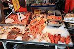 Fish market stall, Bergen, Norway, Scandinavia, Europe