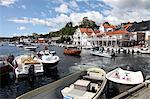 Atterrages du port, Kragero, Telemark, Norvège du Sud, Norvège, Scandinavie, Europe