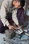 Jewellery making in north eastern Gujarat state, India, Asia