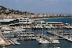 Casino und Hafen, Cannes, Alpes Maritimes, Provence, Cote d ' Azur, Côte d ' Azur, Frankreich, Mittelmeer, Europa