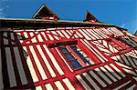 Typiquement moitié colombage Norman house, Honfleur, Calvados, Normandie, France, Europe