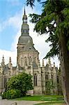 Saint Sauveur Basilica, Roman Gothic, Dinan, Brittany, Cotes d'Armor, France, Europe
