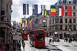 Fahnen, Regent Street, West End, London, England, Vereinigtes Königreich, Europa