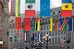 Flags, Regent Street, West End, London, England, United Kingdom, Europe