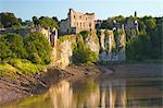Château de Chepstow et la rivière Wye, Gwent, pays de Galles, Royaume-Uni, Europe