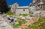 Chapelle de St. Govans, St Govans promontoire, Pembroke, Pembrokeshire, pays de Galles, Royaume-Uni, Europe