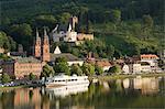Blick über den Main nach Miltenberg, Bayern, Deutschland, Europa