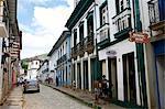 Balcon sur la Rua Direita, Mariana, Minas Gerais, Brésil, Amérique du Sud