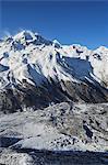 Kyanjin Gumba village et la vallée du Langtang, Parc National de Langtang, Bagmati, région du Centre (Madhyamanchal), Népal, Himalaya, Asie