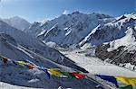 View of Langtang valley from Kyanjin Ri, Langtang National Park, Bagmati, Central Region (Madhyamanchal), Nepal, Himalayas, Asia