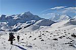 Thorong La (Thorung La), a pass at 5416m, Annapurna Conservation Area, Gandaki, Western Region (Pashchimanchal), Nepal, Himalayas, Asia