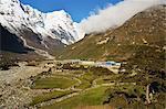 Thame village, Sagarmatha National Park, UNESCO World Heritage Site, Solukhumbu District, Sagarmatha, Eastern Region (Purwanchal), Nepal, Himalayas, Asia