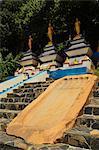 Buddha footprint, Tiger Cave Temple (Wat Tham Suea), Krabi Province, Thailand, Southeast Asia, Asia
