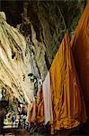 Monks' robes, Tiger Cave Temple (Wat Tham Suea), Krabi Province, Thailand, Southeast Asia, Asia