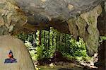 Découvre de la grotte de la forêt tropicale, Tiger Cave Temple (Wat Tham Suea), Province de Krabi, Thaïlande, Asie du sud-est, Asie