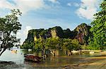 Railay East Bay, Rai Leh (Railay), Côte d'Andaman, Province de Krabi, Thaïlande, Asie du sud-est, Asie