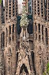Cathédrale de la Sagrada Familia de Gaudi, Site du patrimoine mondial de l'UNESCO, Barcelona, Catalunya (Catalogne) (Catalunya), Espagne, Europe