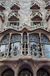 Facade of Casa Batllo by Gaudi, UNESCO World Heritage Site, Passeig de Gracia, Barcelona, Catalunya (Catalonia) (Cataluna), Spain, Europe