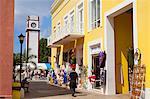 Mercado De Artesanias dans la Plaza del Sol, la ville de San Miguel, île de Cozumel, Quintana Roo, Mexique, Amérique du Nord