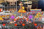 Décorations Hongbao rivière pour les célébrations du nouvel an chinois à Marina Bay, Singapour, Asie du sud-est, Asie