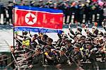 Militär parade Straße Feier zum hundertsten Geburtstag Geburtstag von Präsident Kim Il Sung, 15. April 2012, Pjöngjang, Demokratische Volksrepublik Korea (DVRK), North Korea, Asien