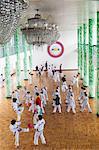 Klasse tun, Tae Kwon, Mangyongdae Schulkinder des Palace, Pjöngjang, Demokratische Volksrepublik Korea (DVRK), Nordkorea, Asien