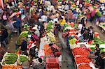 Indoor produce market, Chichicastenango, Guatemala, Central America