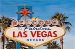 Signe de Bienvenue à Las Vegas, Las Vegas, Nevada, États-Unis d'Amérique, Amérique du Nord