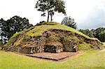 The ruins of Iximche near Tecpan, Guatemala, Central America