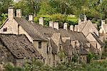 Malerischen Häuschen am Arlington Row in den Cotswolds Dorf Bibury, Gloucestershire, England, Vereinigtes Königreich, Europa
