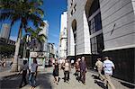 People walking through Praca Floriano, Praca Floriano, Centro, Rio de Janeiro, Brazil, South America