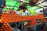 Orangensaft, Verkäufer, Djemaa el Fna, Marrakesch, Marokko, Nordafrika, Afrika