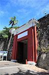San Juan Gate, Old City Wall, UNESCO World Heritage Site, Old San Juan, San Juan, Puerto Rico, West Indies, Caribbean, United States of America, Central America