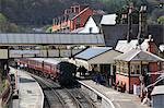 Llangollen Railway, Station, Llangollen, Dee Valley, Denbighshire, North Wales, Wales, United Kingdom, Europe