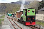 Lake Railway Station, Llanberis, Gwynedd, Snowdonia, Galles du Nord, pays de Galles, Royaume-Uni, Europe