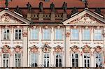 Old town square. Baroque facade, Prague, Czech Republic, Europe