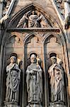 Apostle sculptures, South facade, Notre Dame Cathedral, Paris, France, Europe